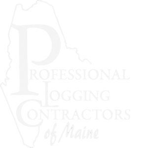 professional logging contractors of maine logo